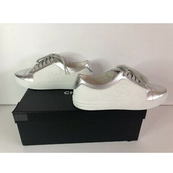 Trainers Flats Silver Sneakers   Poshmark